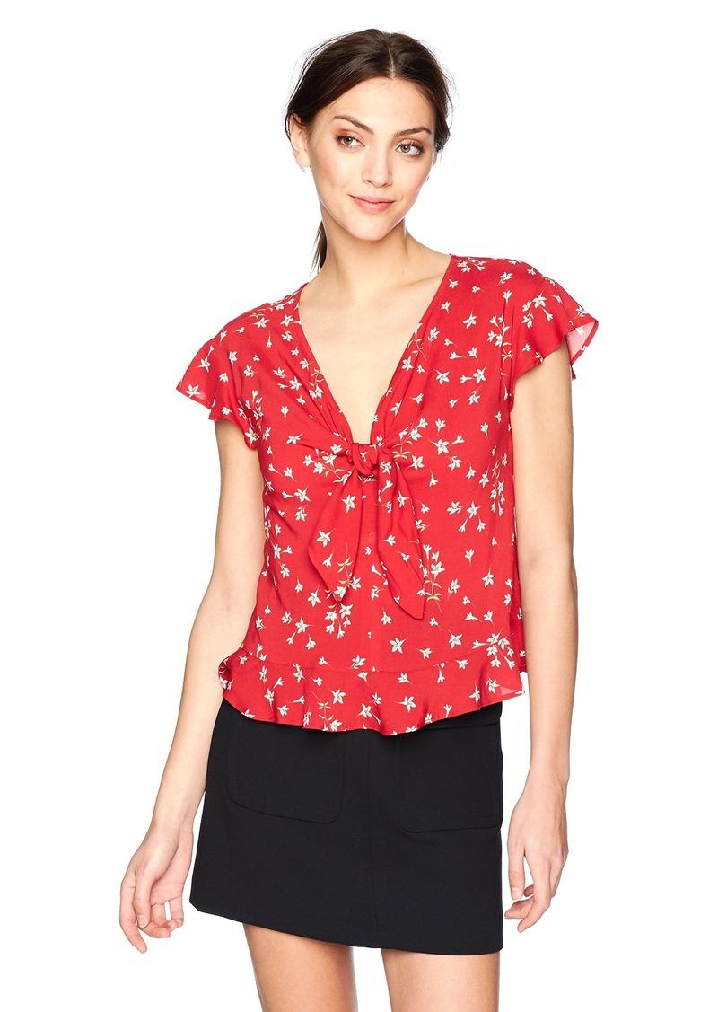 Velvet by Graham & Spencer Women's Shanola Floral tie Blouse  XL