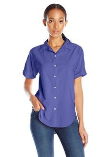 VELVET BY GRAHAM & SPENCER Women's Short Sleeve Button Down Shirt