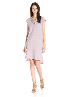 Velvet by Graham & Spencer Women's Slub Henley Dress bramble