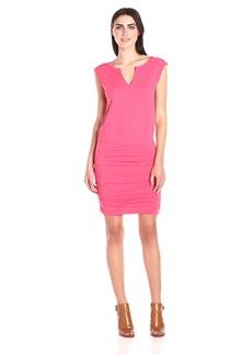 VELVET BY GRAHAM & SPENCER Women's Slub Ruched Skirt Dress