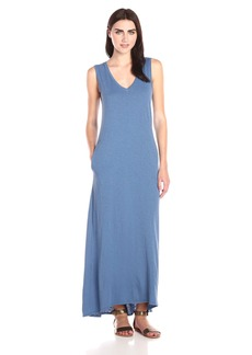 VELVET BY GRAHAM & SPENCER Women's Slub V-Neck Maxi Dress