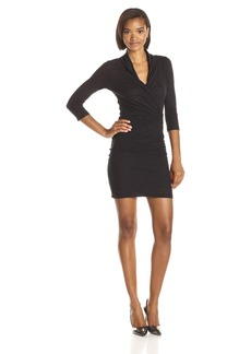 VELVET BY GRAHAM & SPENCER Women's Soft Texture Knit Surplice Dress