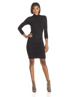 VELVET BY GRAHAM & SPENCER Women's Soft Texture Knit Turtleneck Dress