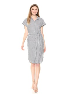 Velvet by Graham & Spencer Women's Sonay Stripe Shirtdress  M