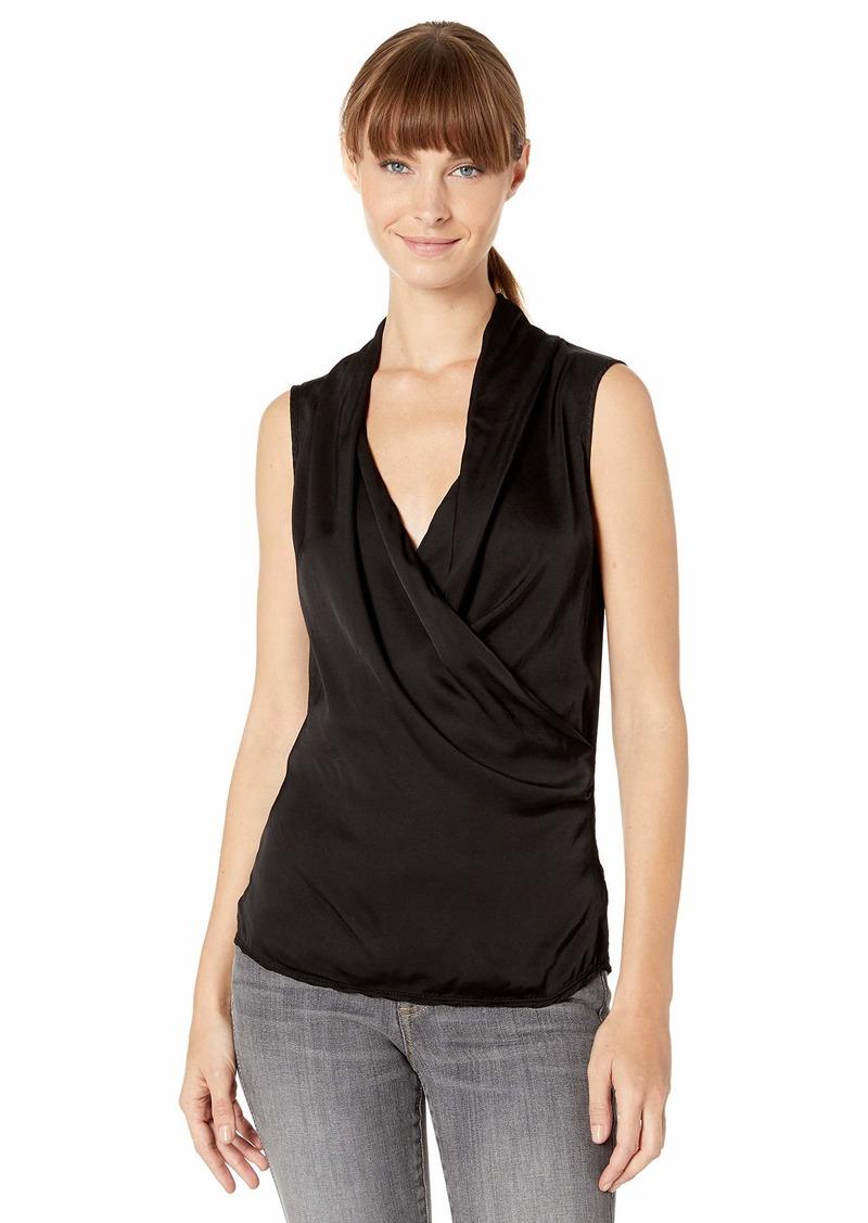 Velvet by Graham & Spencer Women's Sophia lux Club Satin Viscose Shirt  M