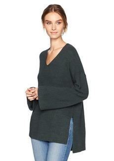 VELVET BY GRAHAM & SPENCER Women's Stitch Detail Kimono Sleeve Sweater  L