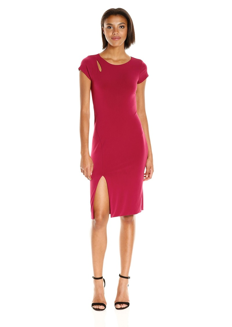 VELVET BY GRAHAM & SPENCER Women's Stretch Jersey Capsleeve Dress  M