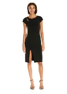 Velvet by Graham & Spencer Women's Stretch Jersey Capsleeve Dress  S