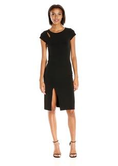 VELVET BY GRAHAM & SPENCER Women's Stretch Jersey Capsleeve Dress  XS