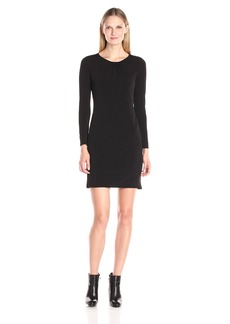 VELVET BY GRAHAM & SPENCER Women's Stretch Jersey Keyhole Back Dress  L