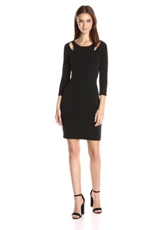 VELVET BY GRAHAM & SPENCER Women's Stretch Jersey Keyhole Detail Dress  S