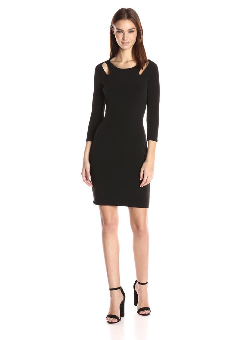 VELVET BY GRAHAM & SPENCER Women's Stretch Jersey Keyhole Detail Dress  S