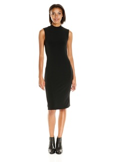VELVET BY GRAHAM & SPENCER Women's Stretch Jersey Mock Neck Dress  M