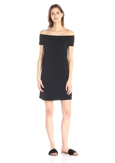 VELVET BY GRAHAM & SPENCER Women's Stretch Jersey Off-The-Shoulder Dress