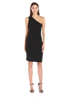 VELVET BY GRAHAM & SPENCER Women's Stretch Jersey One Shoulder Dress  XS