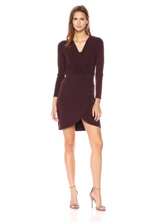 VELVET BY GRAHAM & SPENCER Women's Stretch Jersey Surplice Dress  S