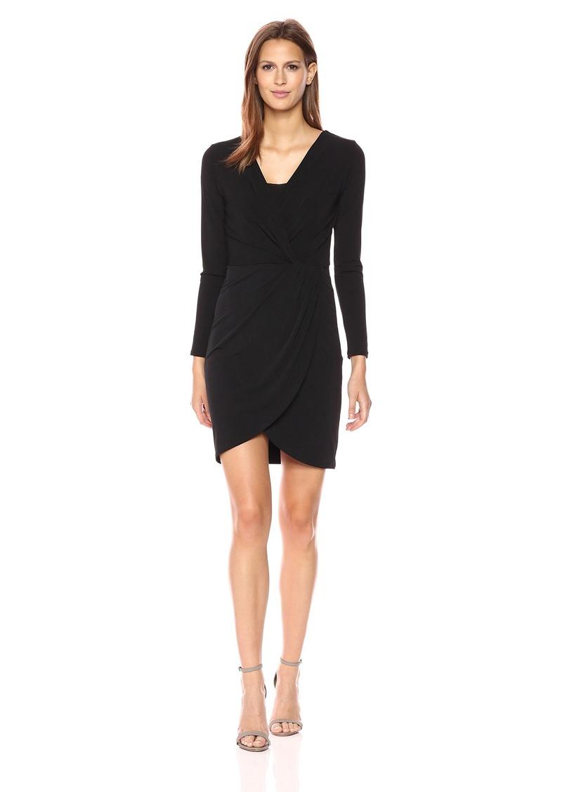 Velvet by Graham & Spencer Women's Stretch Jersey Surplice Dress  XL