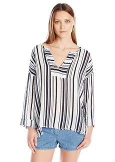 VELVET BY GRAHAM & SPENCER Women's Stripe Popover Shirt