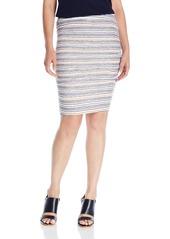 Velvet by Graham & Spencer Women's Stripe Texture Knit Skirt