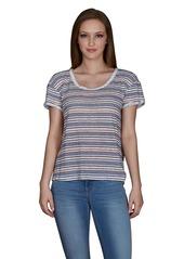 Velvet by Graham & Spencer Women's Stripe Texture Knit Tee