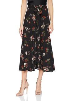 Velvet by Graham & Spencer Women's Swan Floral Long Skirt  L