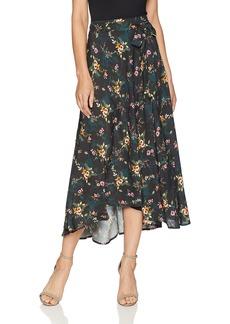 Velvet by Graham & Spencer Women's Swan Floral Printed Challis Skirt  XL