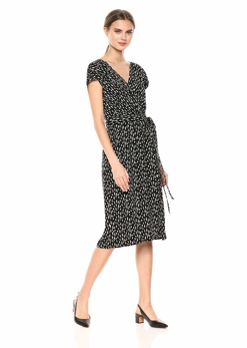 Velvet by Graham & Spencer Women's Tamar Printed Challis Dress  XS