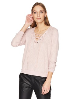 Velvet by Graham & Spencer Women's Texas Laceup Thermal Top  M