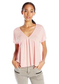 Velvet by Graham & Spencer Women's Textured Knit Babydoll T-Shirt