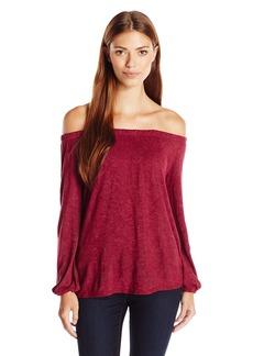 Velvet by Graham & Spencer Women's Textured Knit Off The Shoulder Top  XS