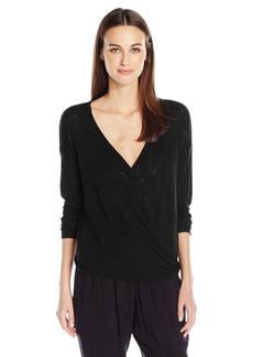 Velvet by Graham & Spencer Women's Textured Knit Surplice Top  M