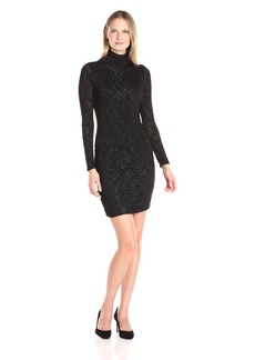 VELVET BY GRAHAM & SPENCER Women's Textured Knit Turtleneck Dress  L