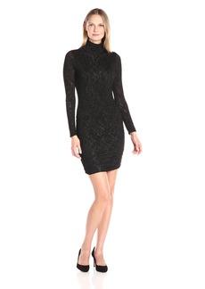 VELVET BY GRAHAM & SPENCER Women's Textured Knit Turtleneck Dress  M