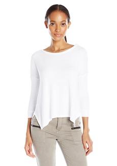 VELVET BY GRAHAM & SPENCER Women's Thermal Knit 3/4 Sleeve Top