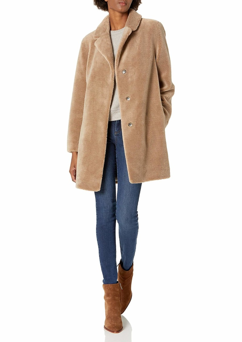 Velvet by Graham & Spencer Women's Trishelle Faux Sherpa Coat  XS