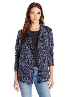 Velvet by Graham & Spencer Women's Tweed Knit Cardigan Jacket  M