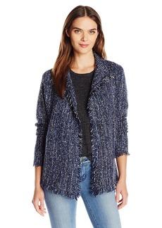 Velvet by Graham & Spencer Women's Tweed Knit Cardigan Jacket  M