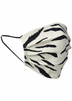 VELVET BY GRAHAM & SPENCER Women's Viena Zebra Fleece Face Mask BEACH ONE SIZE