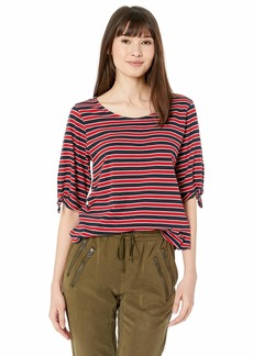 Velvet by Graham & Spencer Women's Vita Knit Stripe top  M