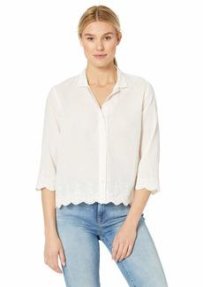 Velvet by Graham & Spencer Women's Windsor Schiffli Shirt Off  XS