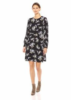 Velvet by Graham & Spencer Women's Winola Printed Challis Dress  XL