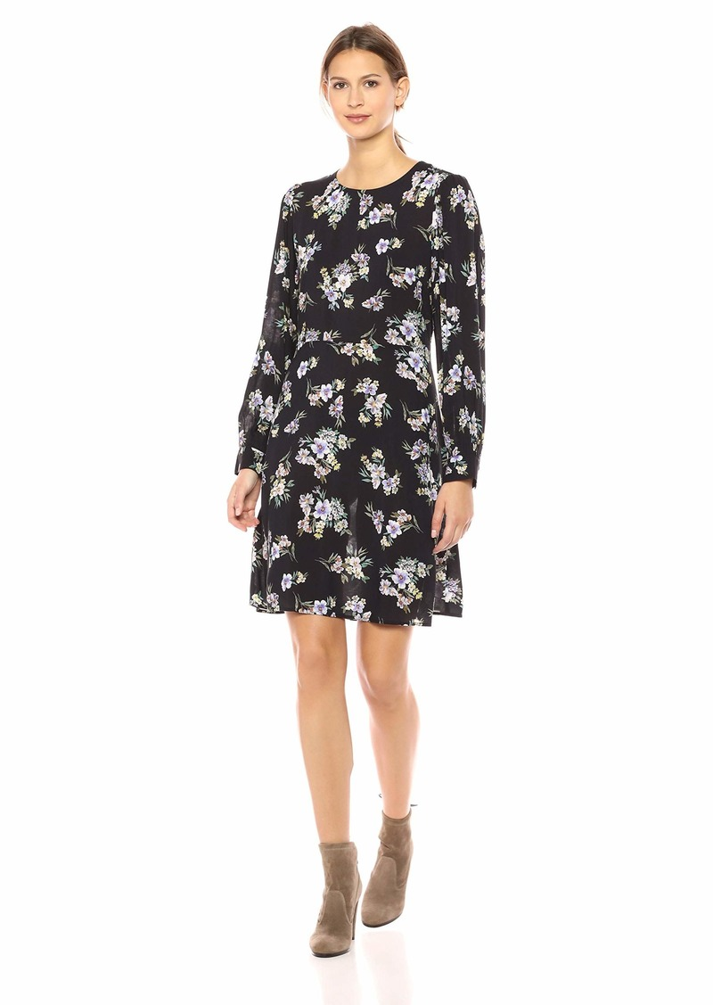 Velvet by Graham & Spencer Women's Winola Printed Challis Dress  XL