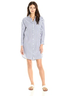 Velvet by Graham & Spencer Women's Woven Stripe Shirtdress  XS