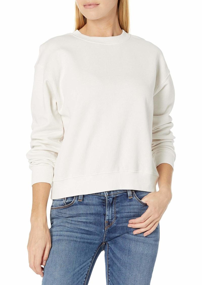 VELVET BY GRAHAM & SPENCER Women's Ynez Organic Fleece Sweatshirt BEACH S