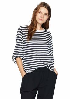Velvet by Graham & Spencer Women's Zoelle Slub Knit Stripe Tee  S