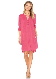 Velvet by Graham & Spencer Zoey Lace Up Dress in Pink. - size M (also in S,XS)