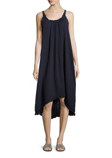 Velvet by Graham & Spencer Velvet Caprice High-Low Cotton Midi Dress