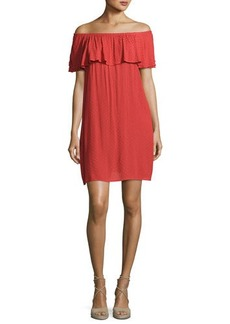 Velvet by Graham & Spencer Velvet Corra Off-the-Shoulder Shift Dress