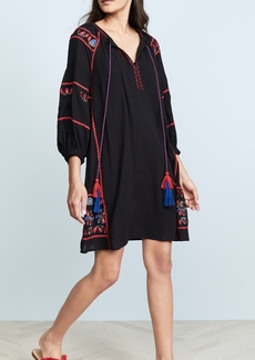 Velvet by Graham & Spencer Velvet Embroidered Dress