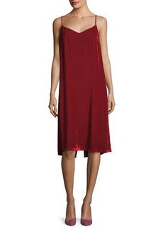 Velvet by Graham & Spencer Velvet Jana V-Neck Velvet Midi Slip Dress